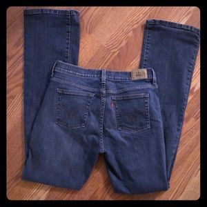MEDIUM WASHED LEVIS 515 LOW RISE JEANS SIZE 6